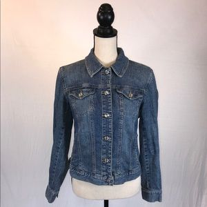 STYLE & CO. Denim Jacket w/ Crystal Style Buttons